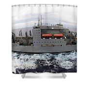 Dry Cargo And Ammunition Ship Usns Shower Curtain