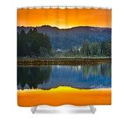 Dry Lagoon Dawn Shower Curtain
