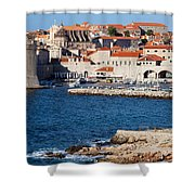 Dubrovnik Old City Architecture Shower Curtain