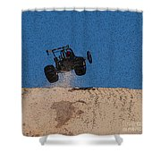 Dune Buggy Jump Shower Curtain