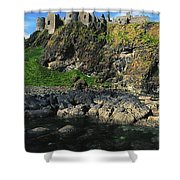 Dunluce Castle, Co Antrim, Ireland Shower Curtain