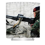 Dutch Royal Marines Taking Part Shower Curtain