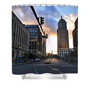 Early Morning Court Street Shower Curtain