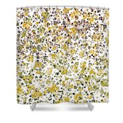 Earthtones Abstract Shower Curtain