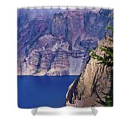 East Rim Of Crater Lake Shower Curtain