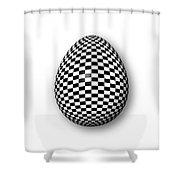 Egg Checkered Shower Curtain