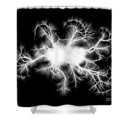 Electric Spark Shower Curtain
