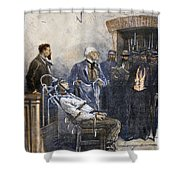 Electrocution, 1890 Shower Curtain