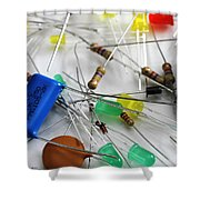 Electronic Components Shower Curtain