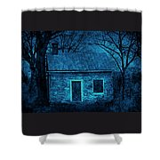 Enchanted Moonlight Cottage Shower Curtain