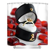 Engagement Ring Shower Curtain by Carlos Caetano