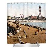 England: Blackpool, C1900 Shower Curtain