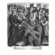 England: Burning At Stake Shower Curtain by Granger
