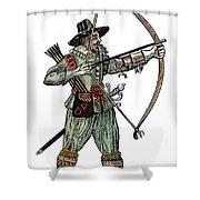 English Archer, 1634 Shower Curtain