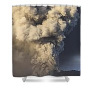Eruption Of Ash Cloud From Mount Bromo Shower Curtain