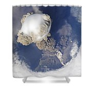 Eruption Of Sarychev Volcano Shower Curtain