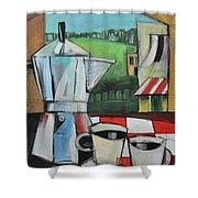 Espresso My Love Shower Curtain by Tim Nyberg