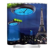 European Time Traveler Shower Curtain