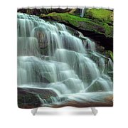 Evening At The Falls Shower Curtain