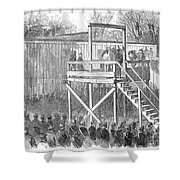 Execution Of Henry Wirz Shower Curtain