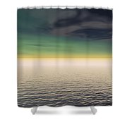 Expanse Of Water And Sky Shower Curtain