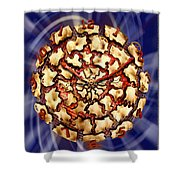 Exploding Clock Shower Curtain