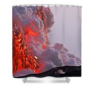 Explosion Of Lava, Ash, And Steam Shower Curtain