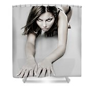 Expressive Sexy Cat Woman Shower Curtain