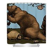 Extinct Fauna Shower Curtain