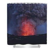 Eyjafjallajökull Eruption, Iceland Shower Curtain