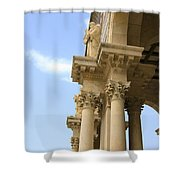 facade of Church of all Nations Jerusalem Shower Curtain