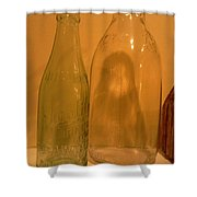 Face In The Bottle Shower Curtain
