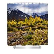 Fall Colours And Auriol Range, Kluane Shower Curtain
