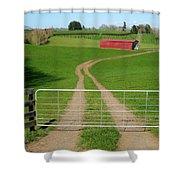 Farming Scene Shower Curtain