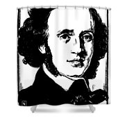 Felix Mendelssohn Shower Curtain by Granger