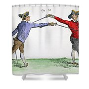 Fencing, 18th Century Shower Curtain
