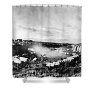Film: The Covered Wagon Shower Curtain