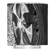 Fire Truck Spinner Shower Curtain