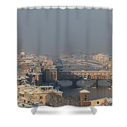 Firenze Under The Snow Shower Curtain