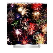 Fireworks Medley Shower Curtain