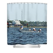 Fishing The Flats Shower Curtain