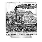 Fitchs Steamboat, C1790 Shower Curtain