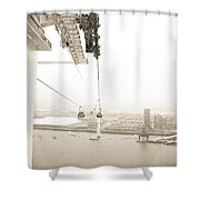 Flight Over The Thames Shower Curtain