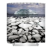 Floating Ice Shattered From Iceberg Shower Curtain