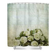 Floral Pattern On Old Paper Shower Curtain