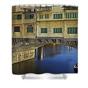 Florence - Ponte Vecchio Shower Curtain by Joana Kruse