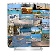 Florida Collage Shower Curtain