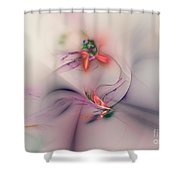 Flower In The Wind Shower Curtain