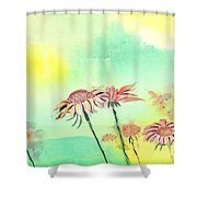 Flowers 2 Shower Curtain by Anil Nene
