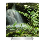 Flowers And Falls Shower Curtain